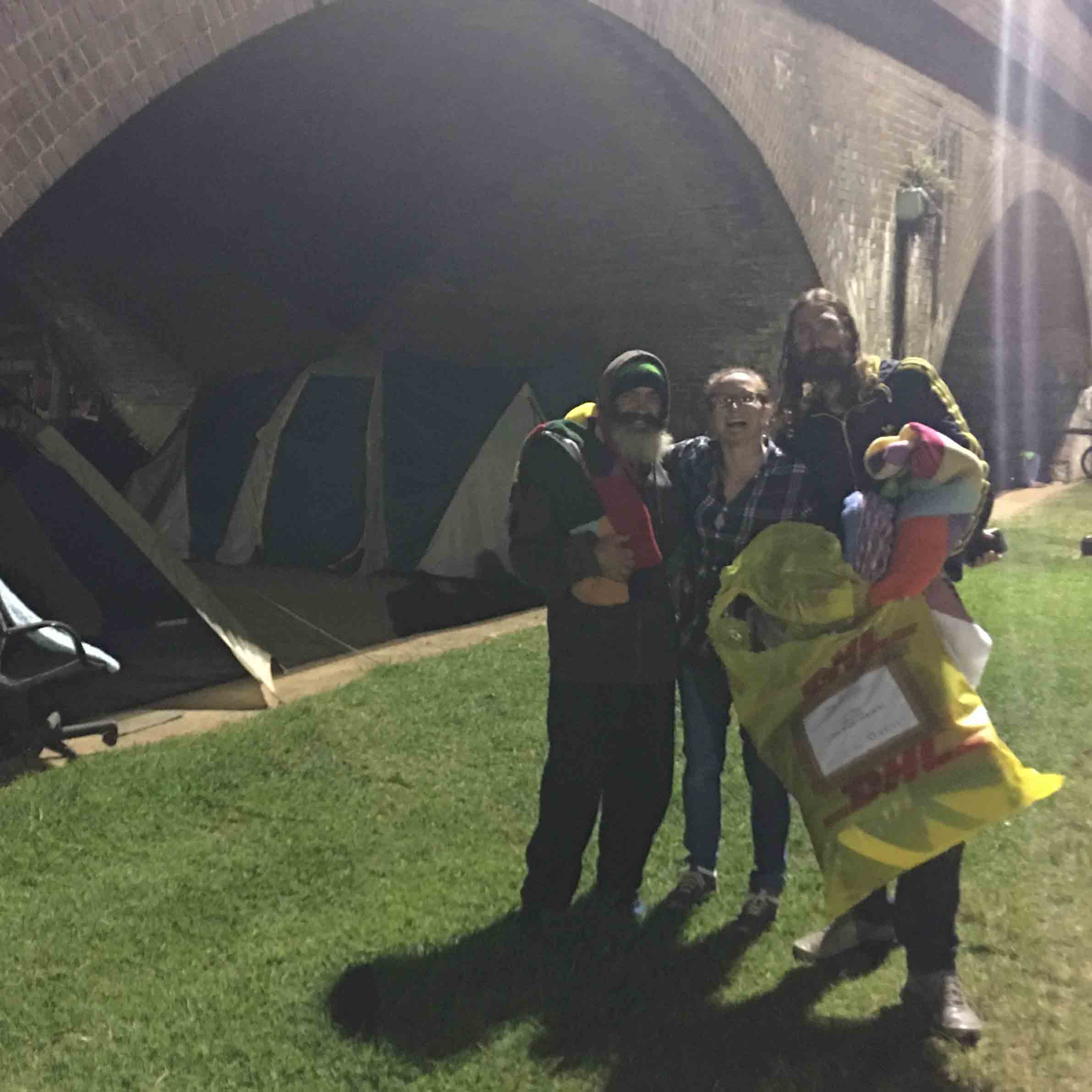 Team giving out blankets at Wentworth Park