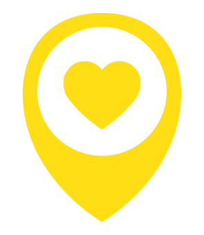 Logo C3Cares Yellow Heart