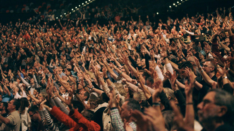 Hands raised in worship at Presence Conference 2017 in ICC Sydney C3 Church Global