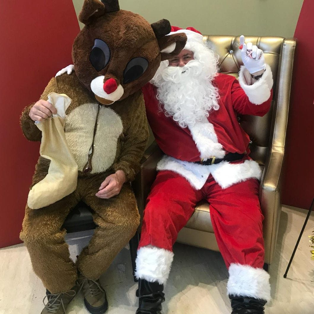 Santa and Rudolph at C3 Church Merrylands